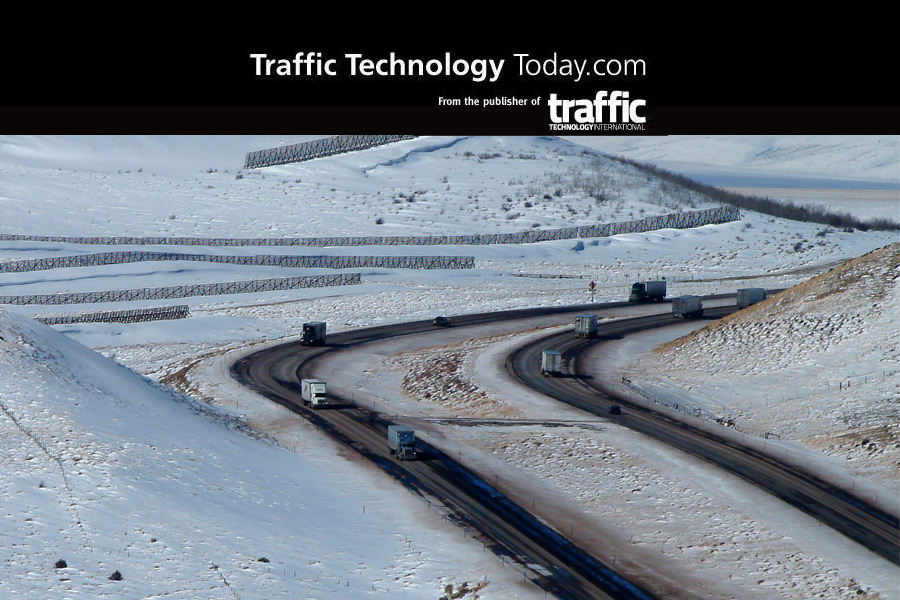 Snow-covered Interstate 80